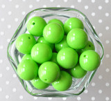 20mm Lypple lime green solid acrylic chunky bubblegum beads for kids