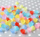 10mm Mini cup lucite flower beads