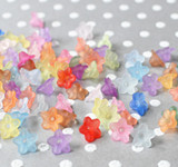 9mm Tiny lucite flower beads