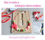 Chunky ribbon necklace tutorial