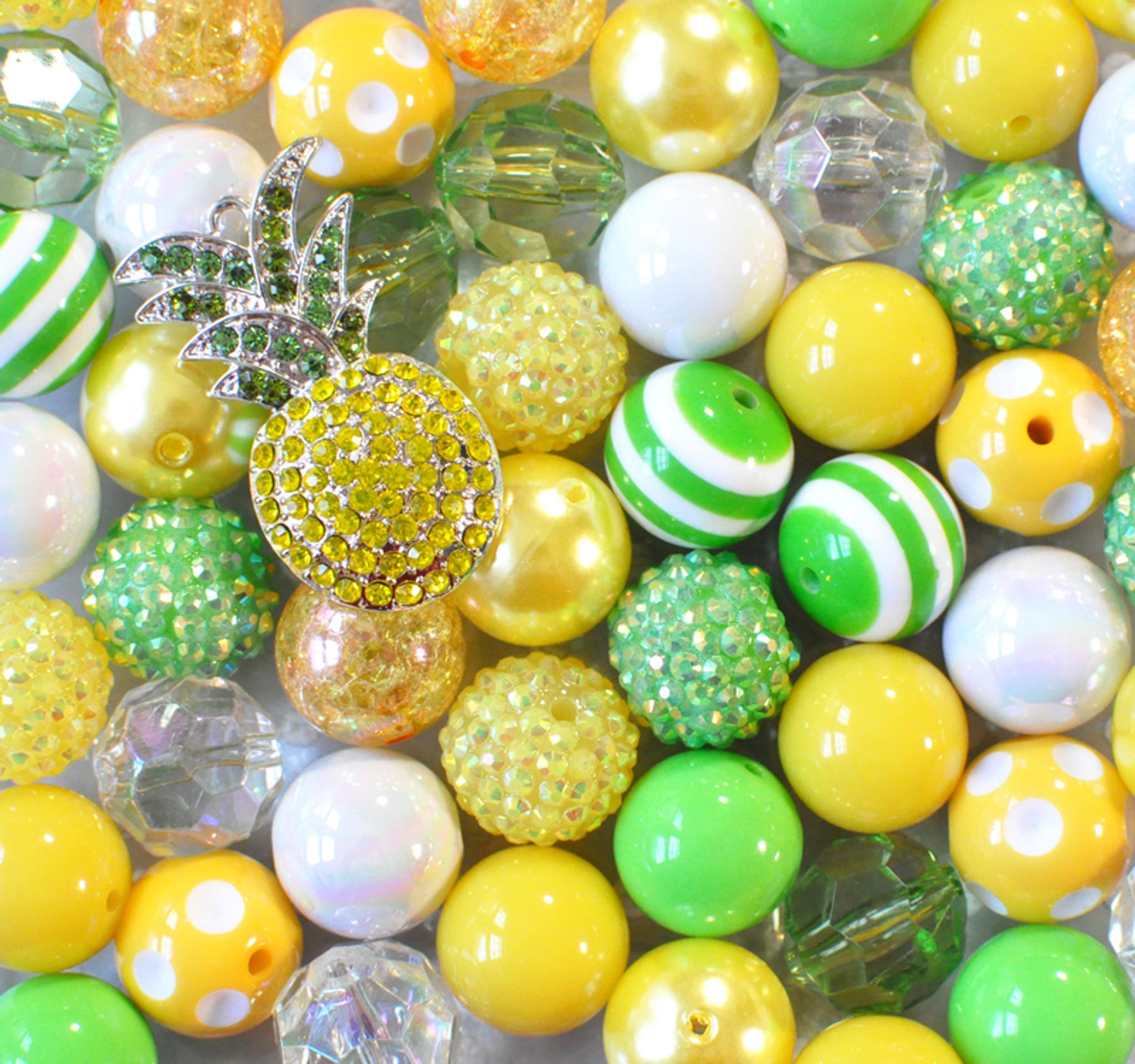 Pina Colada bubblegum bead pendant kit