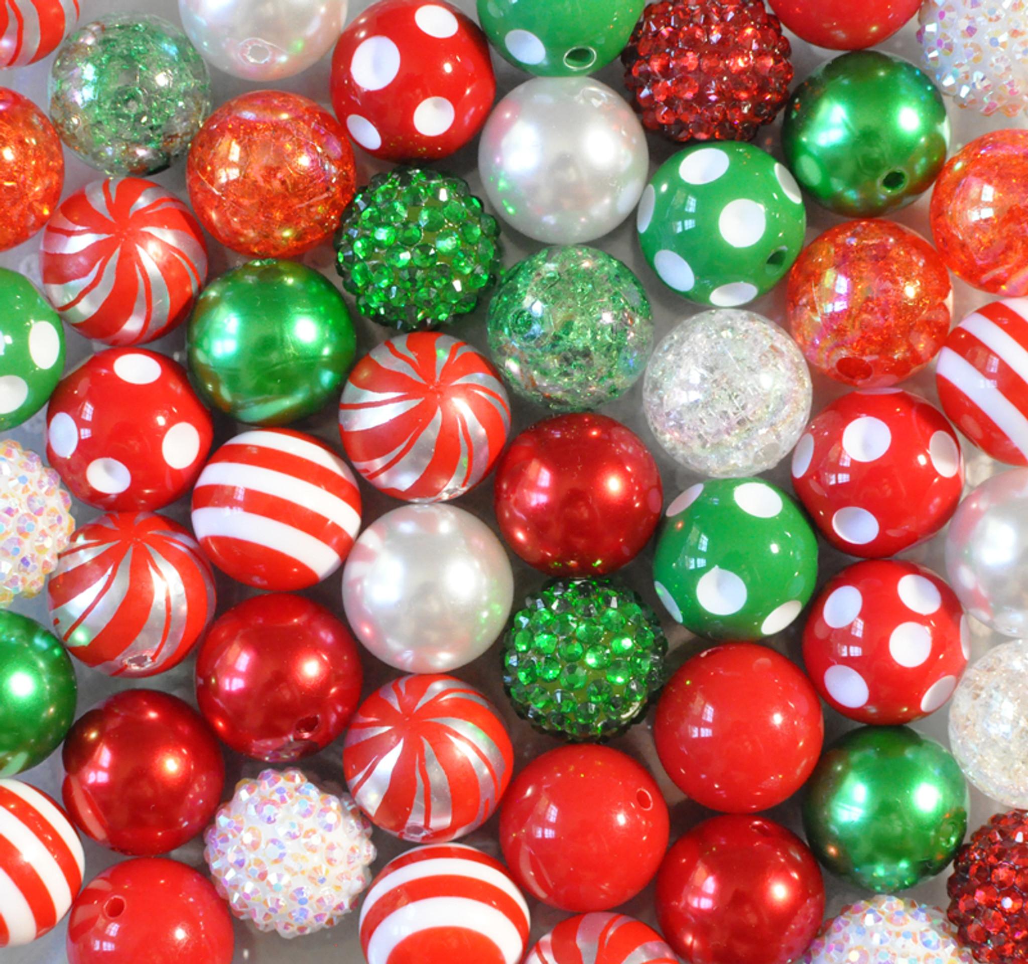 Christmas peppermint bubblegum bead wholesale kit.