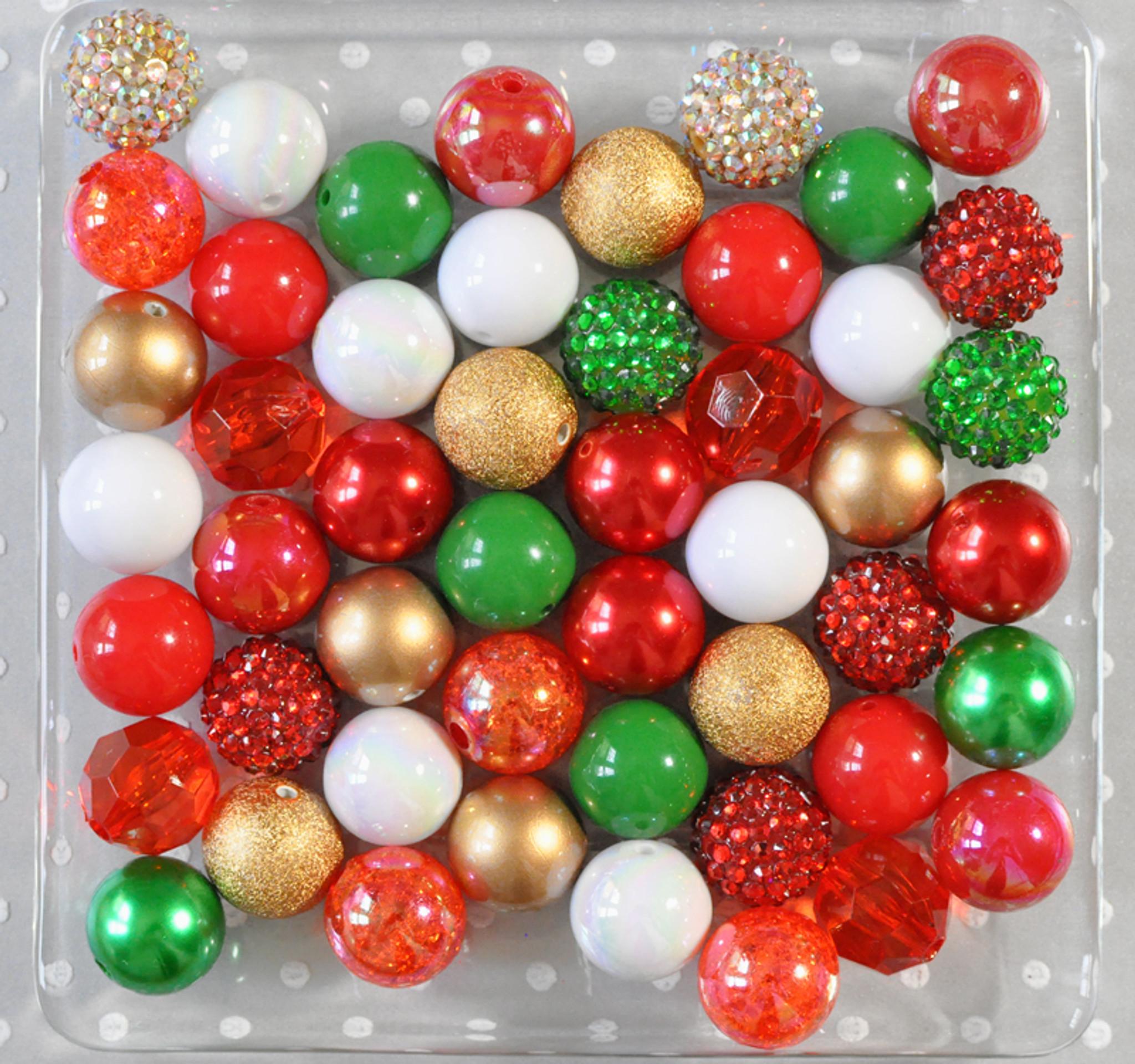 Christmas Gold bubblegum bead wholesale kit