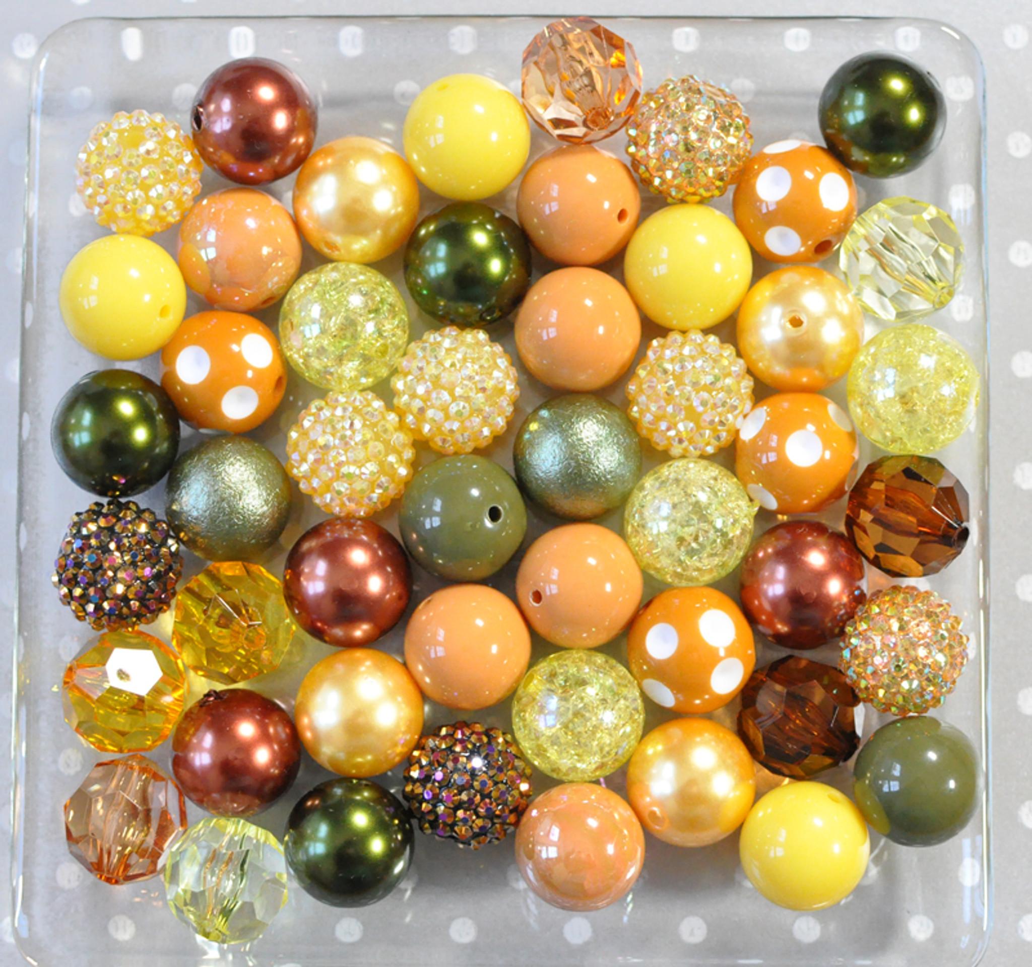 Sunflowers bubblegum bead wholesale kit