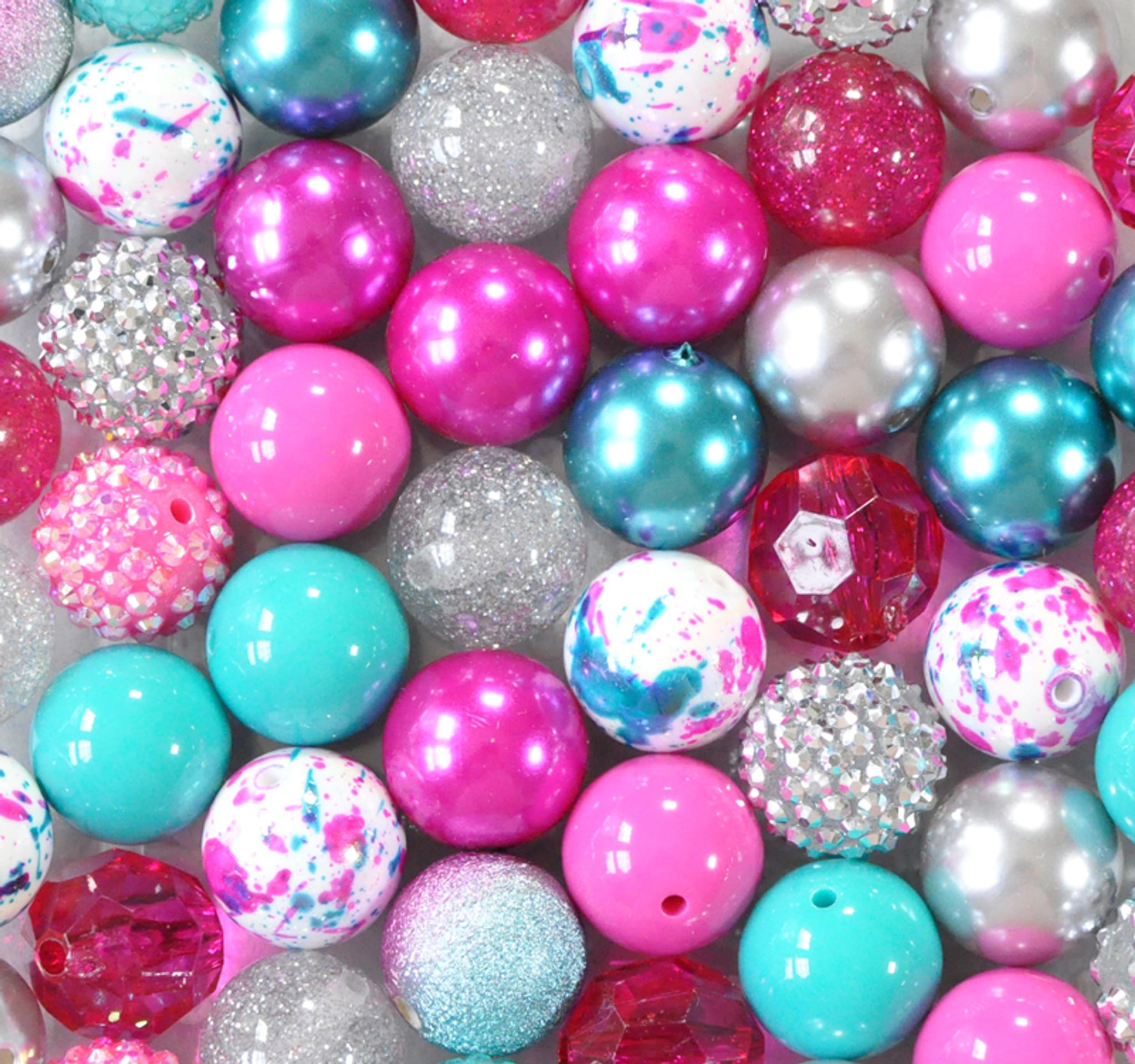 Galaxy glitter bubblegum bead wholesale kit