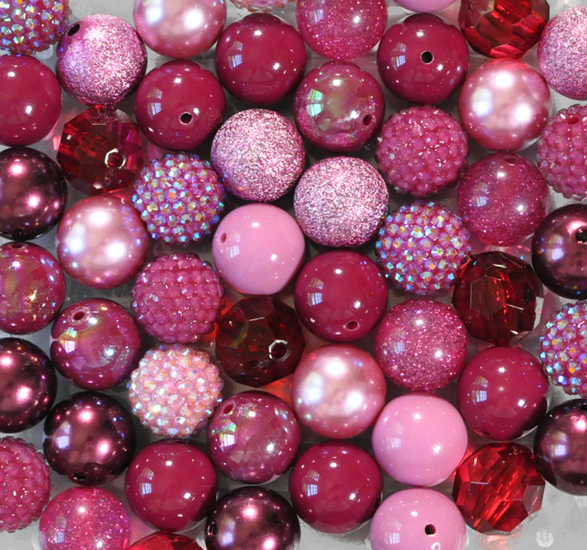 Burgundy Blast bubblegum bead wholesale kit