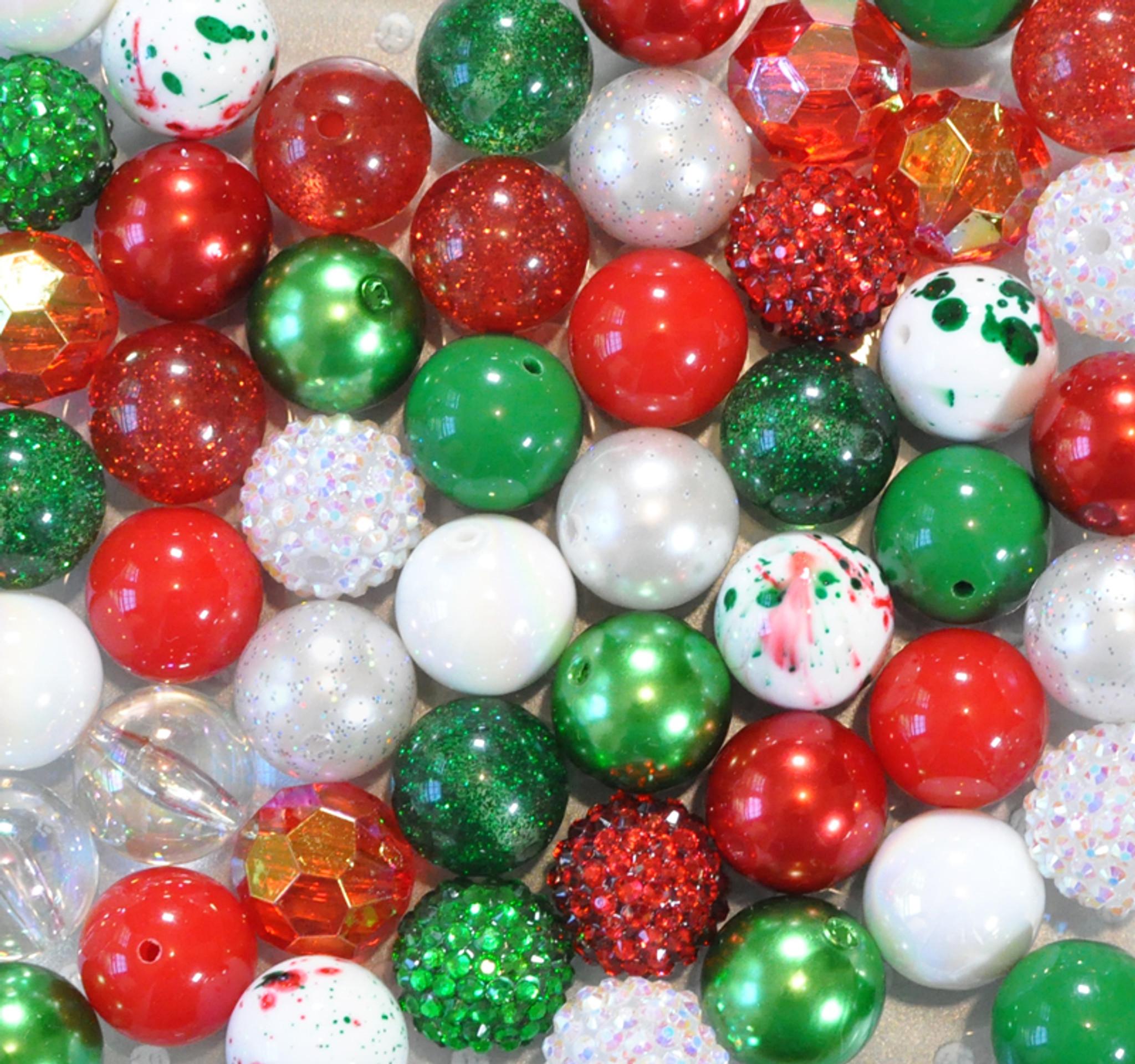 Christmas Splatter bubblegum bead wholesale kit