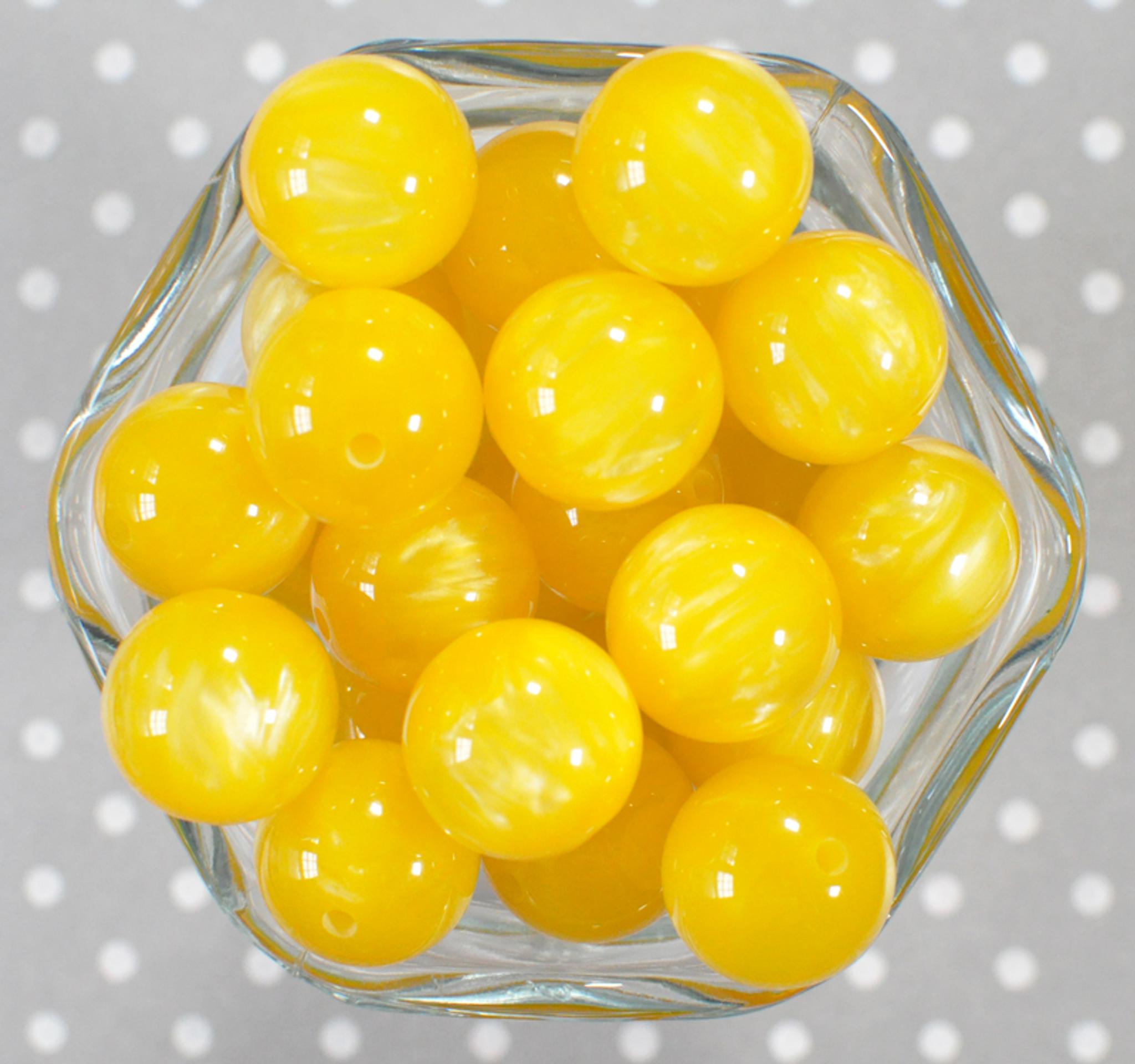 20mm Lemon Drop bubblegum beads