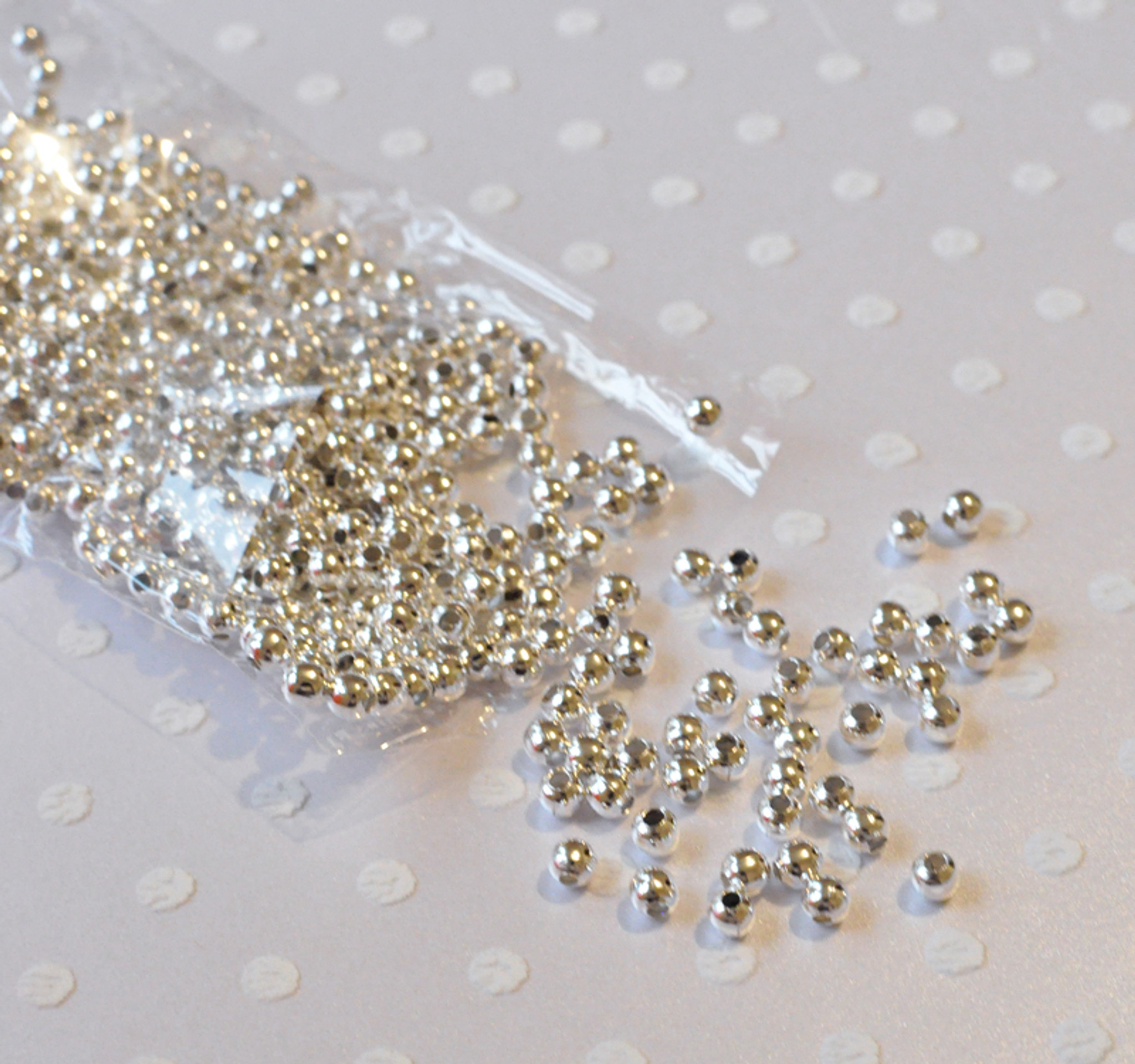 Wholesale jewelry findings 4mm silver plate spacer beads