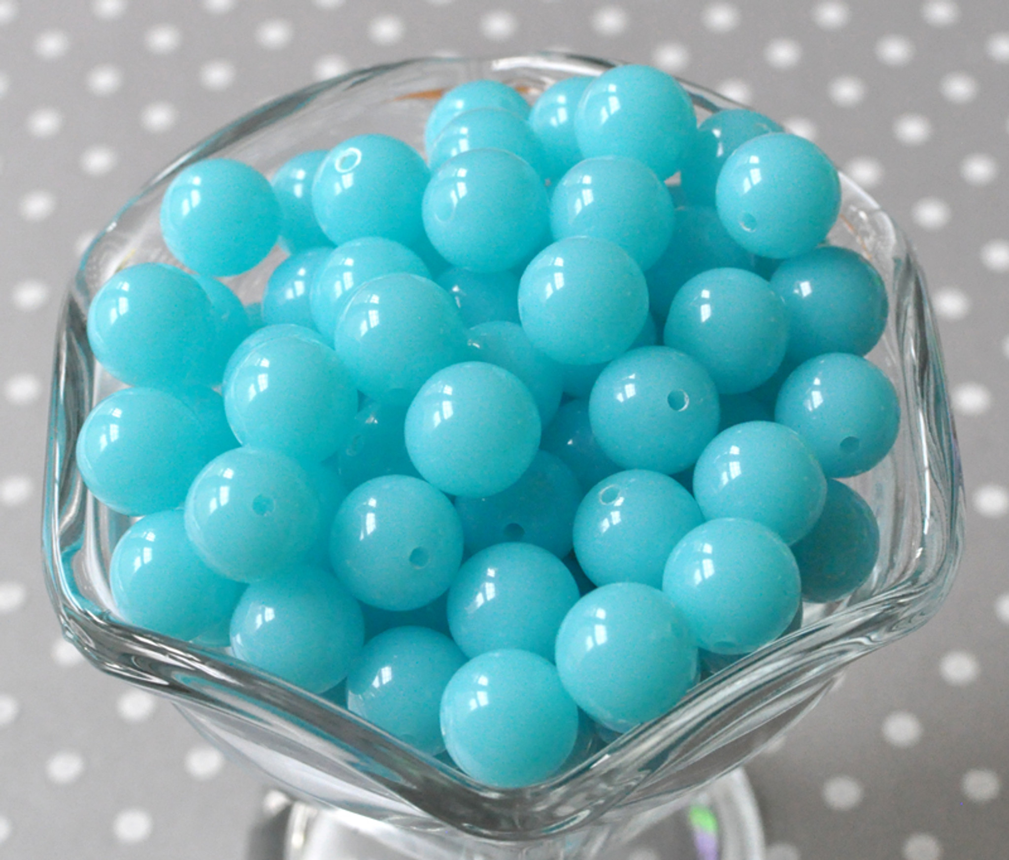 12mm Ocean blue acrylic plastic gumball beads wholesale