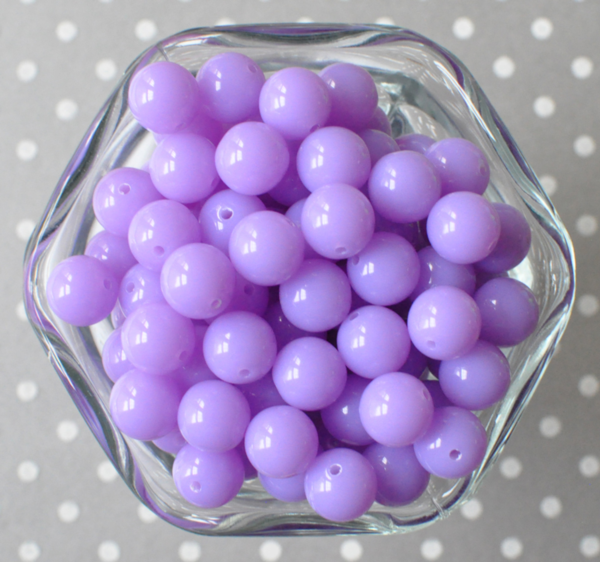 12mm Orchid purple solid small bubblegum beads in bulk