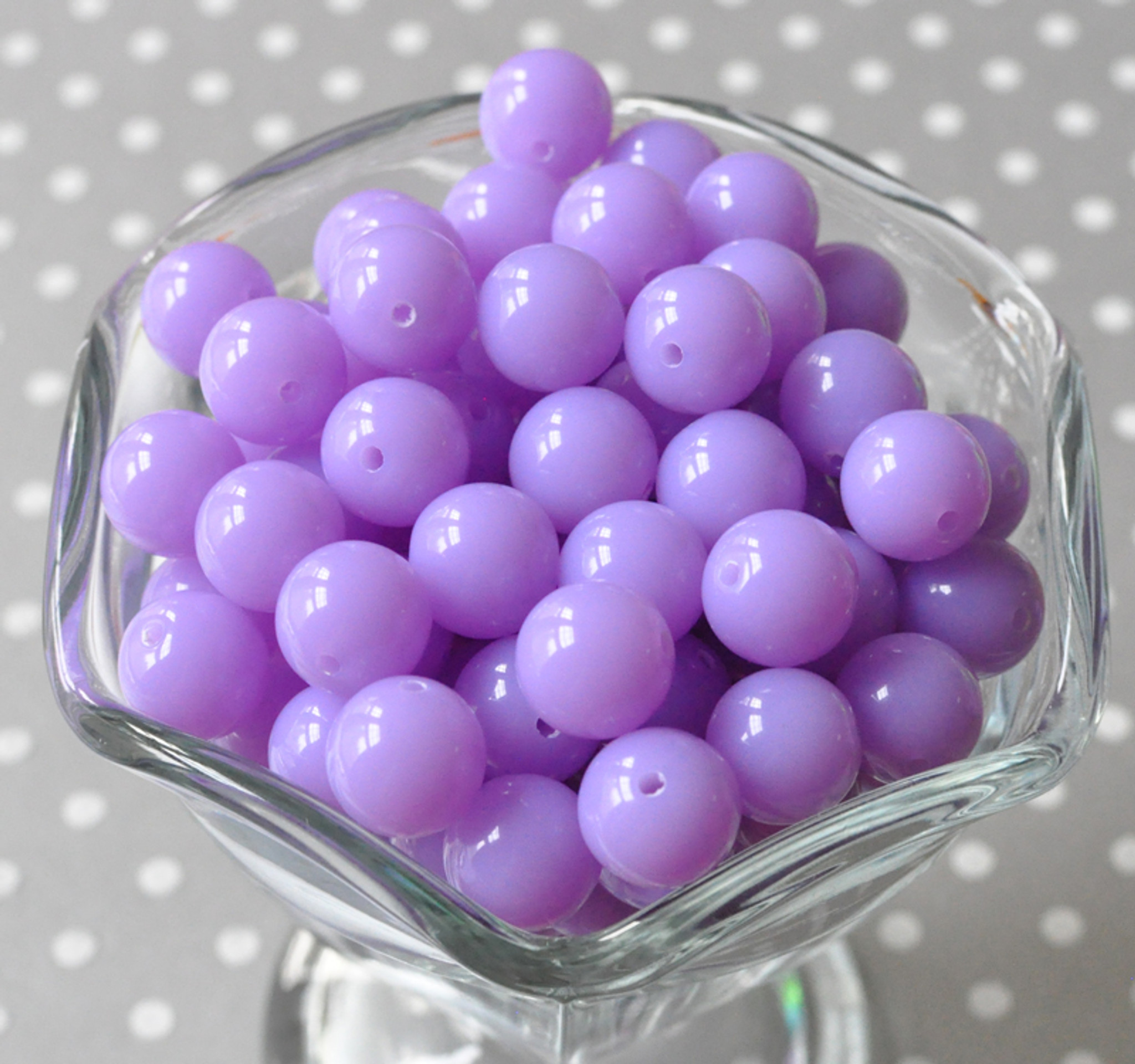 12mm Orchid purple acrylic plastic beads wholesale