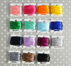 1mm Silky  beading cord for chunky bubblegum bead necklaces