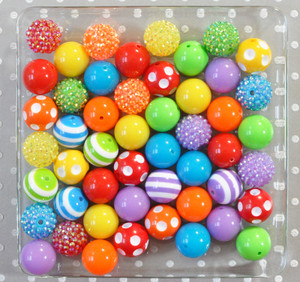 Rainbow Bright bubblegum bead wholesale kit