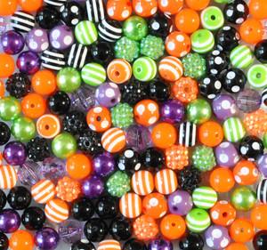 12mm Halloween bubblegum bead mix