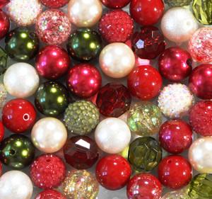 Mistletoe bubblegum bead wholesale kit
