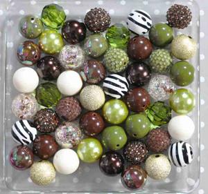 Zebra Jungle bubblegum bead wholesale kit