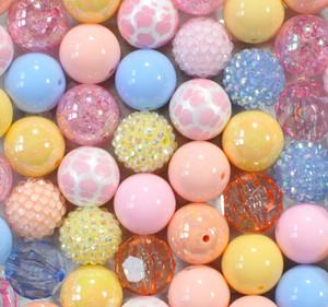 Pastel Heart bubblegum bead wholesale kit