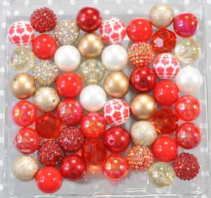 Valentine Glam bubblegum bead wholesale kit