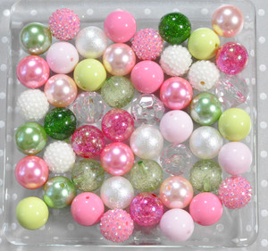 Pink pear bubblegum bead wholesale kit