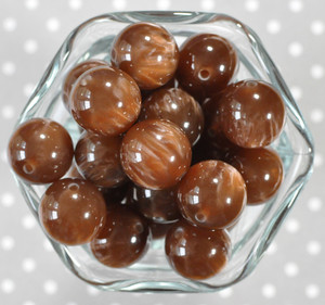 20mm Chocolate Drop bubblegum beads