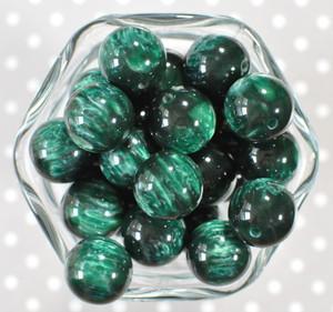 20mm Emerald Drop bubblegum beads