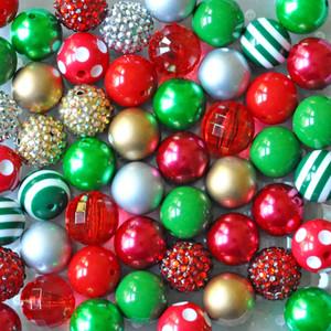 Traditional Christmas bubblegum bead wholesale kit
