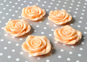 42mm Peach resin extra large flower beads