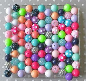 16mm Variety mix 100 piece bubblegum bead wholesale kit