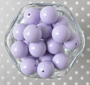 Lavender solid bubblegum beads for children's jewelry