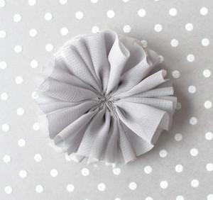 "3"" Grey - Ballerina chiffon flower"