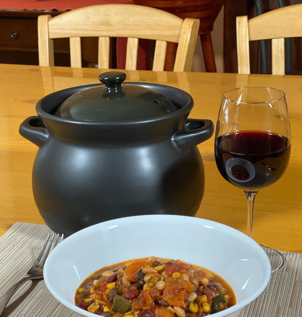Spiceberry Home Ceramic Chili Bean Pot / Dutch Oven, 3 Quart