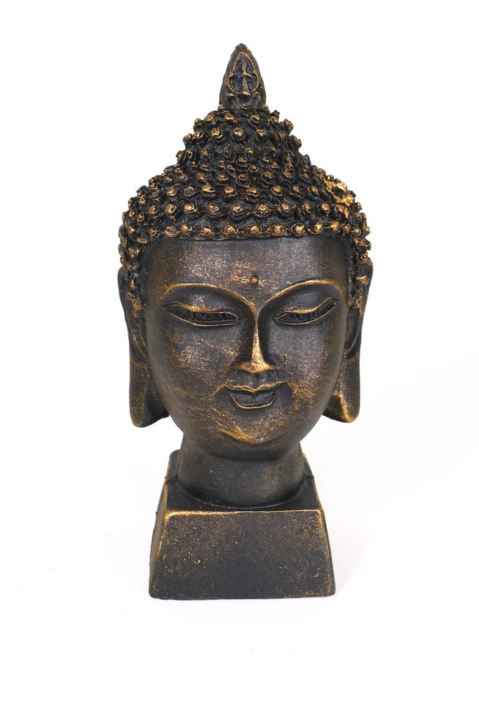 Spiceberry Home Black Buddha Head Statue