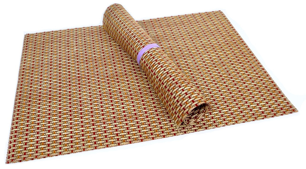 Squish Crossweave Woven Vinyl Placemat, Set of 4 - Thicket Design