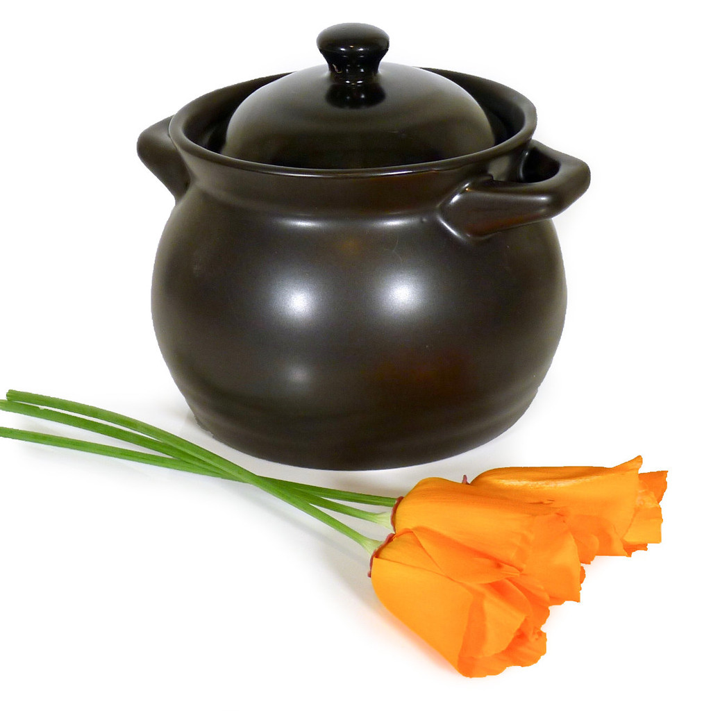 Mini Bean pot with flowers