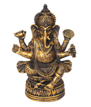 Spiceberry Home Small Black Ganesh Statue