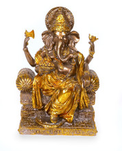 Spiceberry Home Black and Gold Ganesh Statue