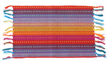 Spiceberry Fiesta Cotton Placemats, Red, Blue and Yellow with Tassels, Set of 4