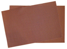 Crossweave Woven Vinyl Placemat, Set of 4 - Chocolate Brown