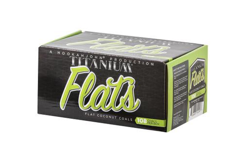 HookahJohn Titanium Coconut Coals 108pc Flats