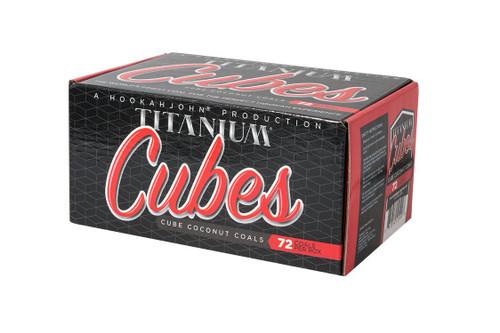 HookahJohn Titanium Coconut Coals 72pc Cubes