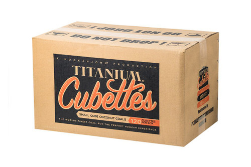 Case of 12 HookahJohn Titanium Coconut Coals 120pc Cubettes