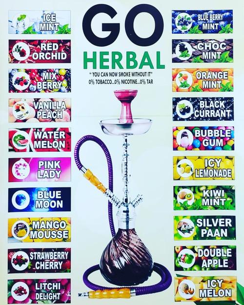 Go Herbal Shisha 50g box (R15) and carton (R100)