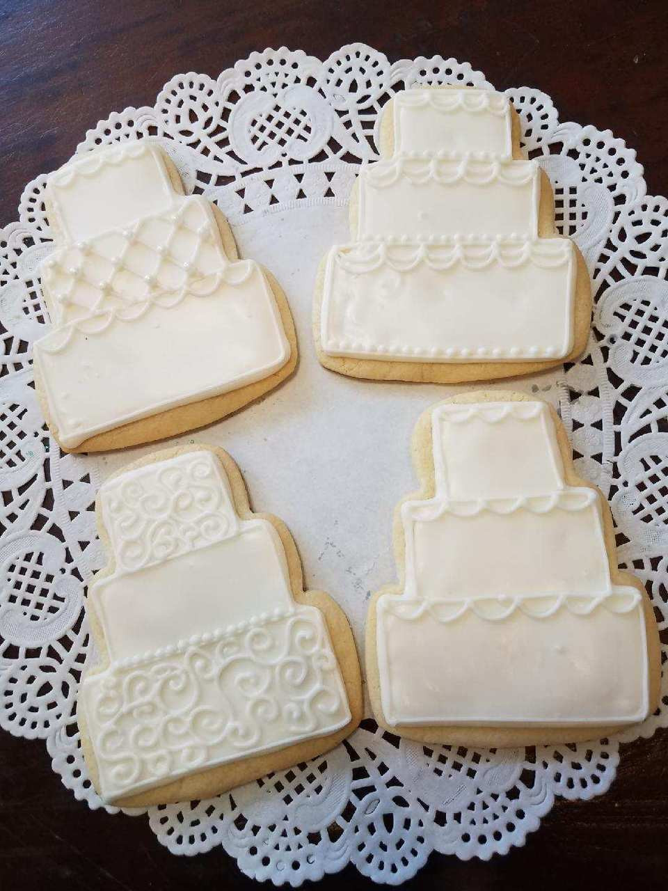 Wedding Cake Sugar Cookies Maggie Molly S Sweet Life