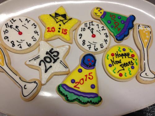 New Year's Sugar Cookies
