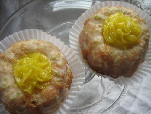 Lime Curd Bundt Cakes