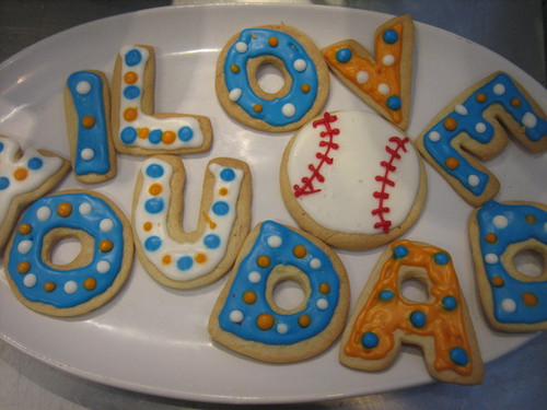 Denver Sports Fan Father's Day Sugar Cookies