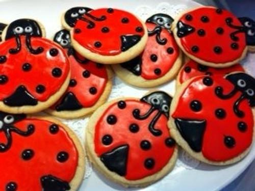 Lady Bug Sugar Cookies