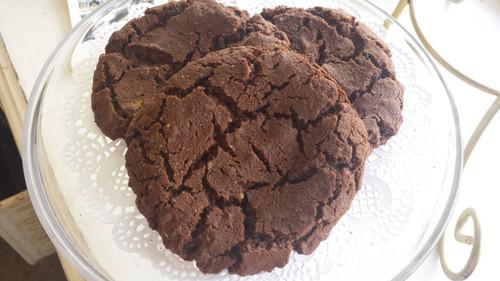 Chocolate Salted Nutella Cookies