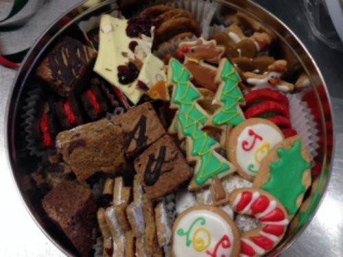 Tin of Assorted Christmas Cookies